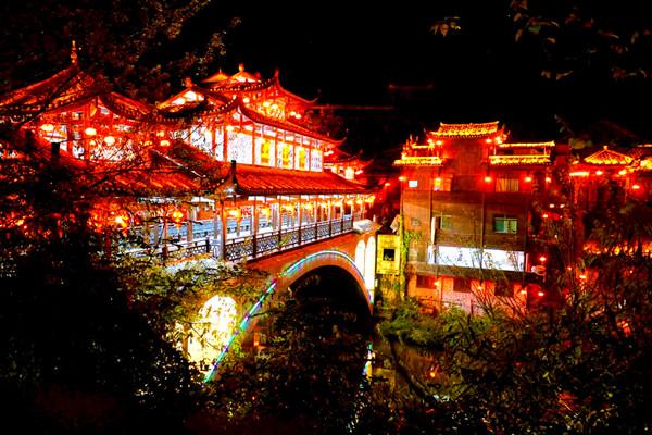 芙蓉镇夜景